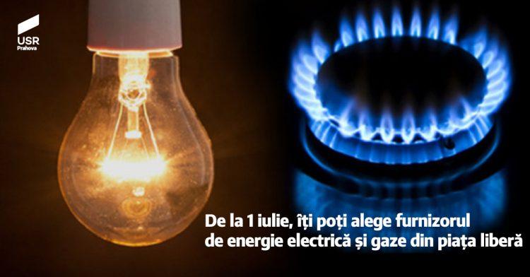 Românii își pot alege furnizorul de energie electrică și gaze din piața liberă