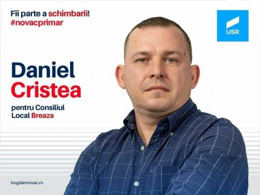 Daniel Cristea candidează la Consiliul Local Breaza din partea USR