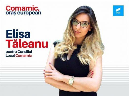 """Elisa Tăleanu: """"Am decis să candidez pentru Consiliul Local al orașului Comarnic"""""""