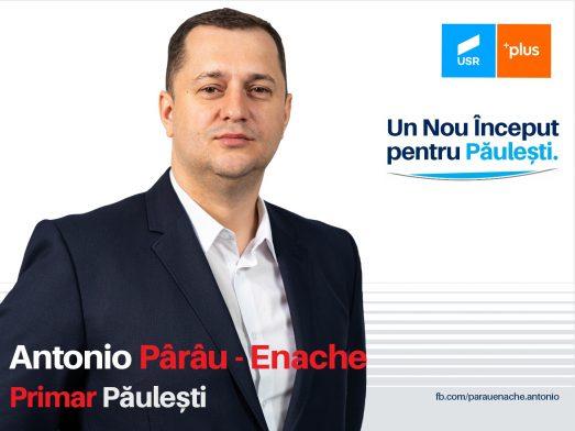 Antonio Enache – Pârâu, candidatul USR Plus la Primăria Păulești