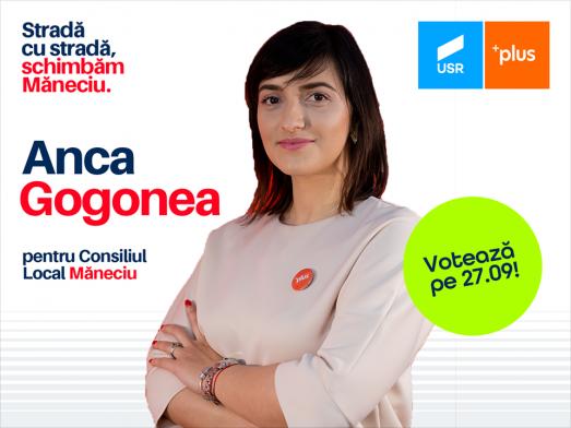 Anca Gogonea este candidatul Alianței USR PLUS la Consiliul Local Măneciu