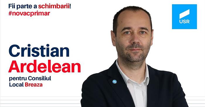 Cristian Ardelean, prima poziție pe lista candidaților USR la Consiliul Local Breaza