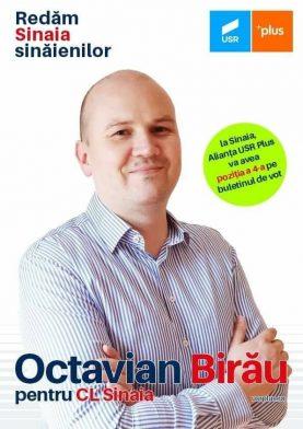 Sunt Octavian Birău, iar pe 27 Septembrie mă puteți vota pentru Consiliul Local Sinaia