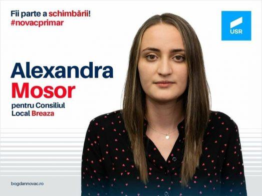 Alexandra Mosor are 24 de ani și candidează la Consiliul Local Breaza