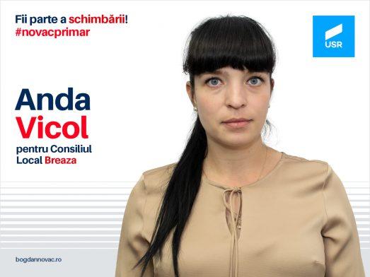 Anda Vicol este candidat la Consiliul Local, din partea USR Breaza