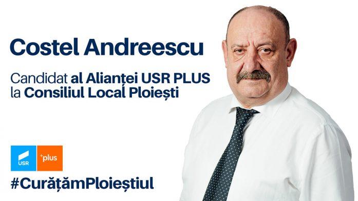 Costel Andreescu este unul dintre candidații Alianței USR PLUS pentru Consiliul Local Ploiești