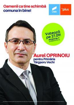 """Aurel Oprinoiu, candidatul USR Plus la Primăria Târgșoru Vechi: """"Comuna are nevoie de o administrație competentă și onestă!"""""""