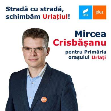 Mircea Crisbășanu, candidatul USR Plus la Primăria Urlați