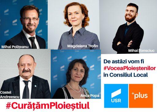 USR Plus are cinci consilieri în Consiliul Local Ploiești