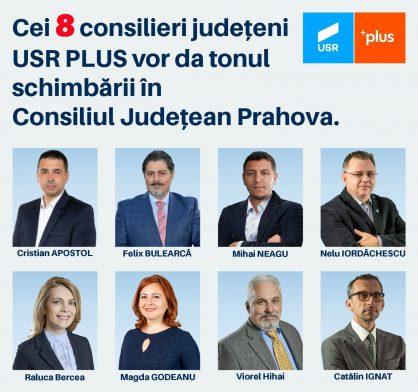 Alianța USR-PLUS devine al doilea partid ca reprezentare în Consiliul Județean Prahova cu 8 consilieri